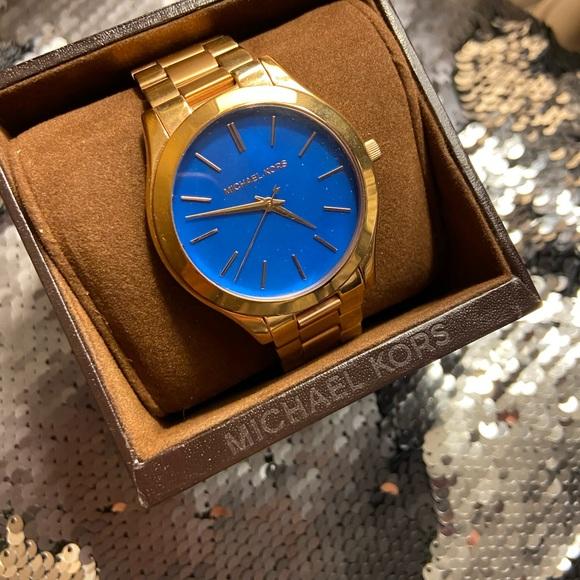 Michael Kors Accessories - Michael Kors Slim Runway Rose Gold Watch MK3494